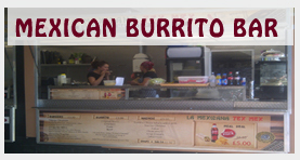 Mexican burrito bar and street food