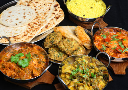 Image of a selection of Little India curries