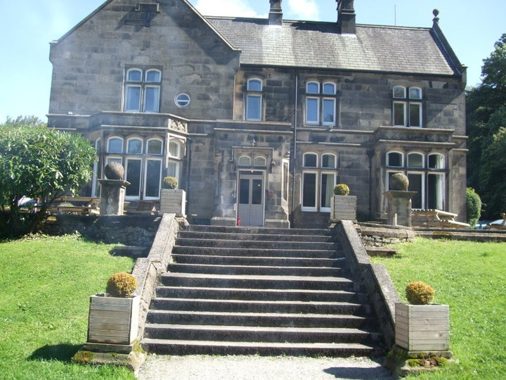 the steps up to the DIY wedding venue Hargate Hall